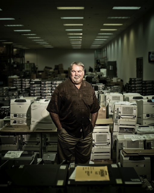 Dan Fuller, owner of EPC, photographed with a tiny fraction of his inventory.